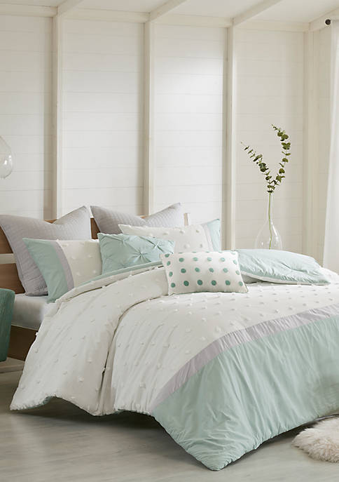 Myla 7-Piece Full/Queen Jacquard Comforter Set