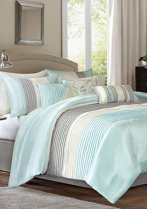 Madison Park Amherst 7-Piece Comforter Set- Aqua