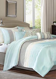 Amherst\t7-Piece Comforter Set- Aqua