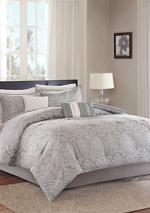 Madison Park Averly 7-Piece Comforter Set- Grey