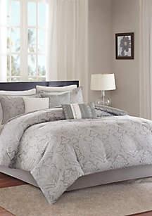Averly 7-Piece Comforter Set- Grey
