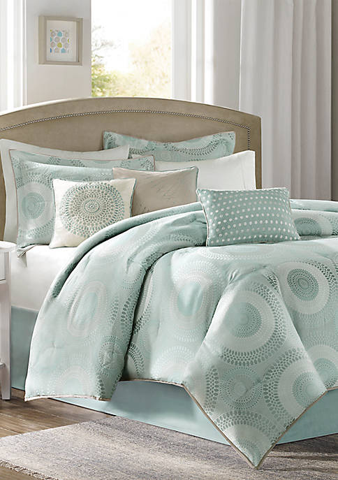 Madison Park Baxter 7-Piece Comforter Set- Blue