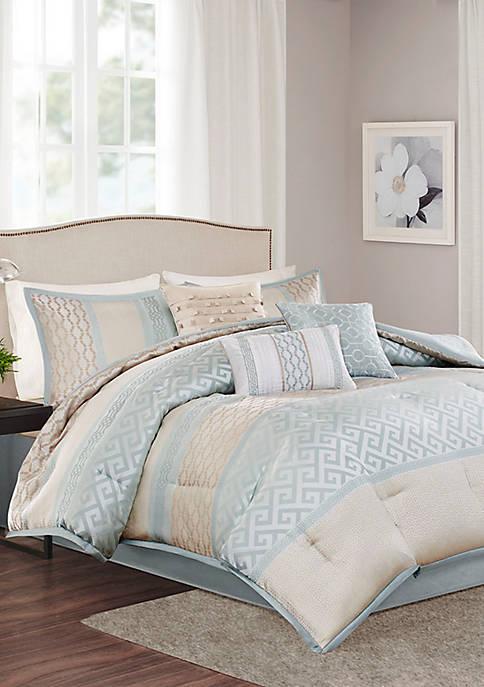 Madison Park Bennett 7-Piece Comforter Set- Aqua