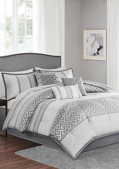 Madison Park Bennett 7-Piece Comforter Set- Gray