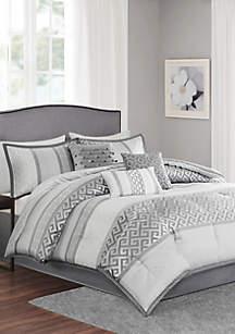 Bennett 7-Piece Comforter Set- Gray