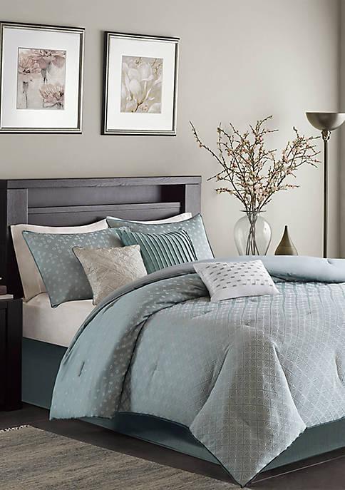 Biloxi 7-Piece Comforter Set- Blue
