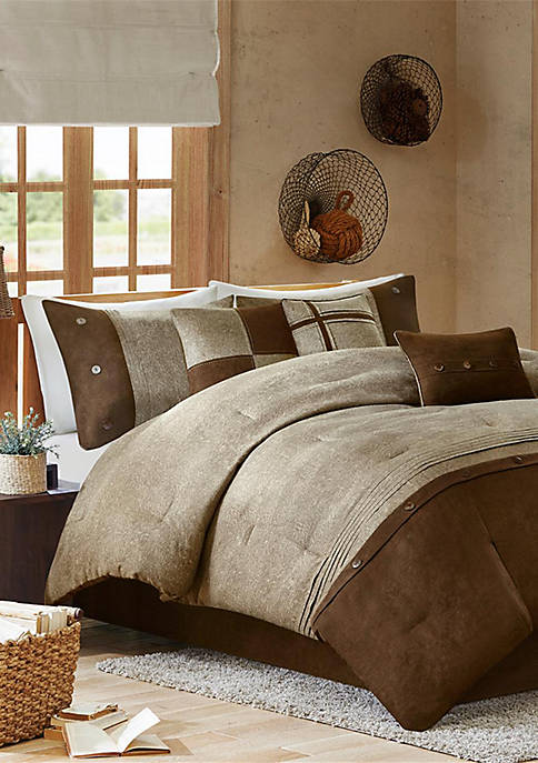 Madison Park Boone 7-Piece Comforter Set- Brown