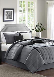 Bridgeport 7-Piece Comforter Set-Gray