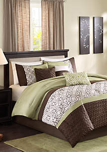 Briggs 7-Piece Comforter Set- Green