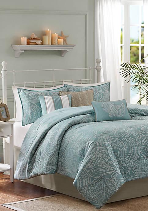 Carmel 7-Piece Comforter Set - Blue