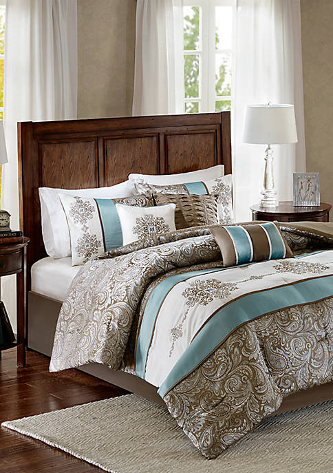 Madison Park Caroline Jacquard 7-Piece Comforter Set