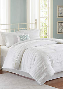 Celeste 5-Piece Comforter Set - White