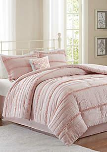 Celeste 5-Piece Comforter Set - Pink
