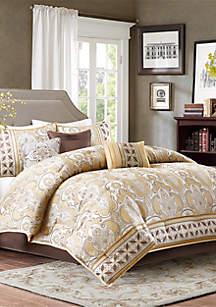 Madison Park Chapman 7-Piece Comforter Set - Gold