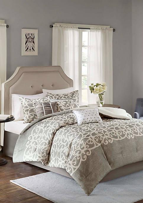 Madison Park Cortana Comforter Set Grey