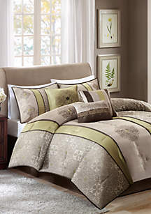 Donovan Jacquard Comforter Set Green