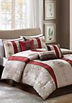 DonovanJacquard Comforter Set Red
