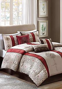 Donovan\tJacquard Comforter Set Red