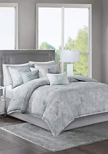 Emory Cotton Sateen Comforter Set Grey