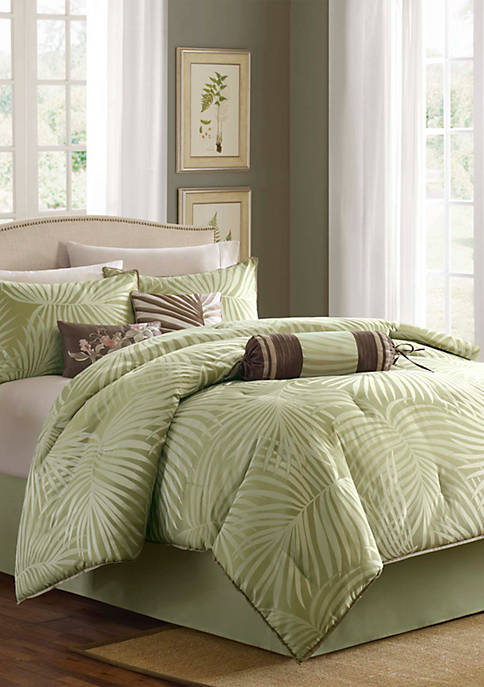 JLA Home Freeport Sage 7-Piece Queen Comforter Set