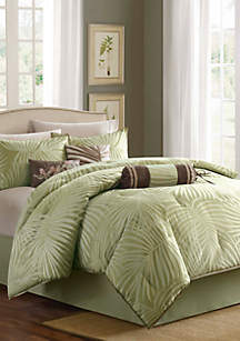 Freeport Sage 7-Piece Queen Comforter Set 90-in. x 90-in.