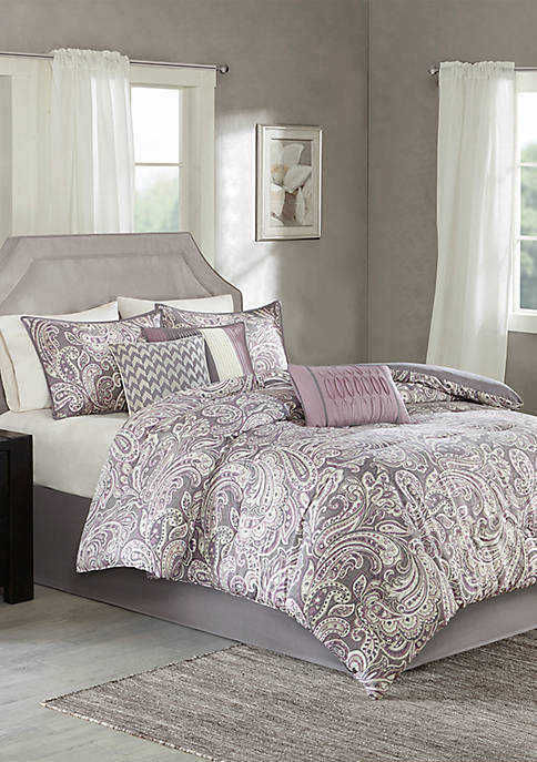 Madison Park Gabby Comforter Set-Purple