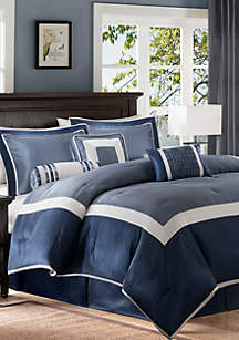 Madison Park Genevieve 7-Piece Comforter Set - Navy