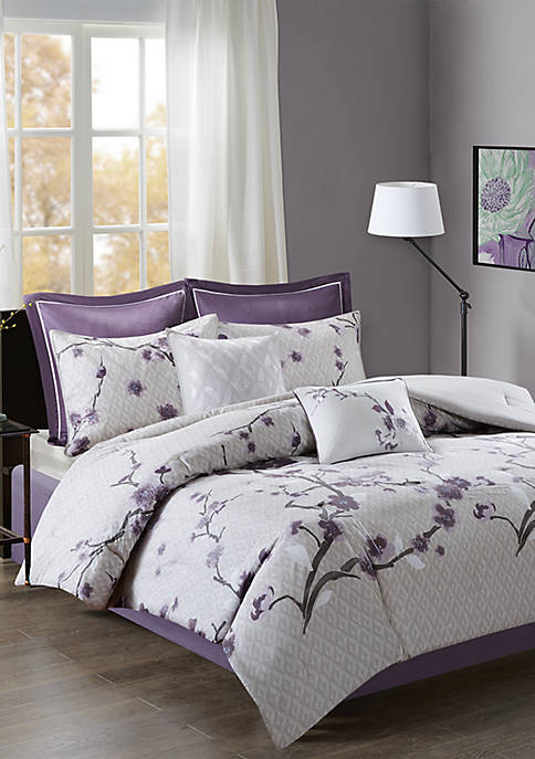 Madison Park Holly Cotton Comforter Set-Purple