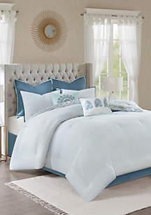 Madison Park Isla Cotton Printed Reversible Comforter Set
