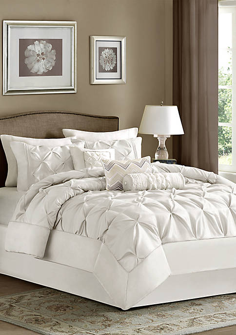 Madison Park Laurel 7-Piece Comforter Set- White