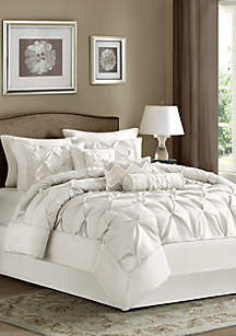 Laurel 7-Piece Comforter Set- White