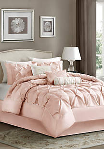 Laurel 7-Piece Comforter Set- Blush