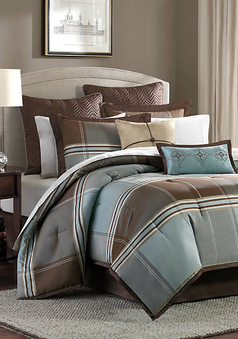 Madison Park Lincoln Square 7-Piece Comforter Set