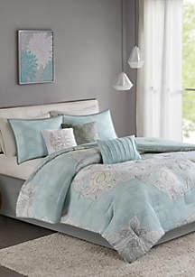 Lucinda 7-Piece Reversible Cotton Sateen Comforter Set