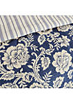 Lucy 9-Piece Cotton Twill Reversible Comforter Set - Navy