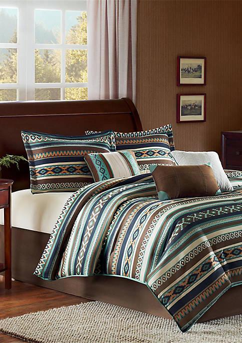 Malone 7-Piece Comforter Set - Blue