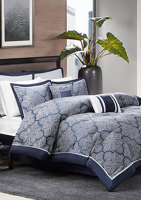 Medina 8-Piece Jacquard Comforter Set