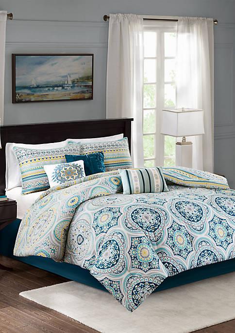Mercia 7-Piece Reversible Cotton Sateen Comforter Set
