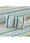 Mercia 7-Piece Reversible Cotton Sateen Comforter Set - Navy