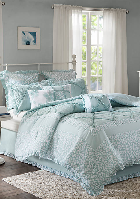 Mindy 9-Piece Cotton Percale Comforter Set
