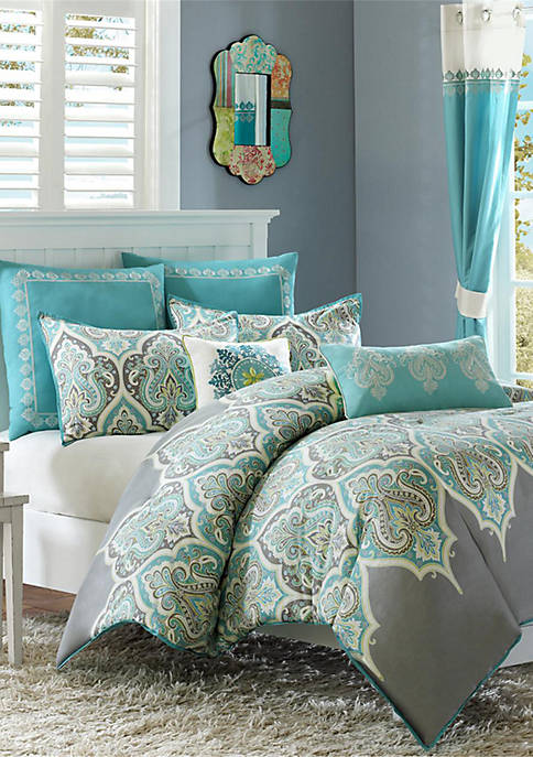 Nisha Comforter Set- Teal