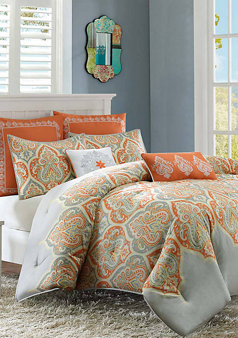 Madison Park Nisha Comforter Set-Orange