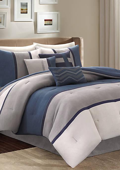 Palisades Comforter Set-Blue