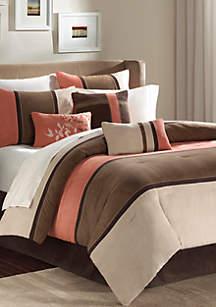 Palisades 7-Piece Comforter Set - Coral