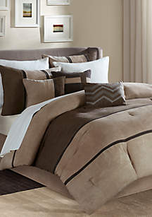 Palisades Comforter Set-Brown