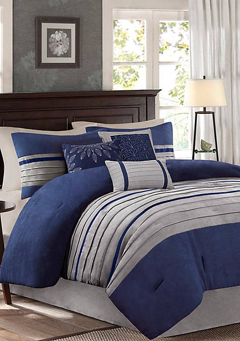 Madison Park Palmer Comforter Set-Blue