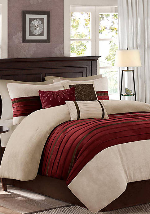 Madison Park Palmer Comforter Set-Red