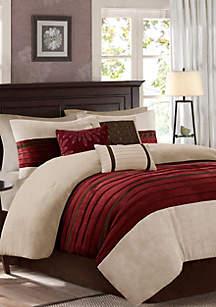 Palmer Comforter Set-Red