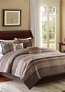 Princeton 7-Piece Red Comforter Set