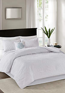 Quebec 5-Piece Comforter Set- White